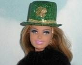 Sparkly St. Patricks Day Hat For Fashion Dolls