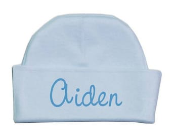 Customized Blue Baby Hat