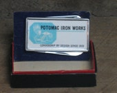 Antique Advertising MONEY CLIP for Potomac Iron Works -- in orig. box