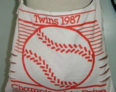 Twins 1987 Upcycled/Recycled Tshirt Cross Body Bag