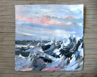 Pacific Storm #1 - Original Acrylic Painting