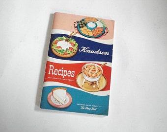 Knudsen Recipes, Knudsen Booklet, Product Guide, Dairy Recipes, Vintage Knudsen, Salad Recipes,Shrimp Recipes, Food Preparation,Cooking Tips