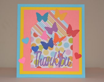 Butterfly Surprise Thank You Card