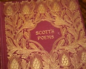 The Complete Poetical Works of Sir Walter Scott 1894 Antique Books, Lady of the Lake, Red Book, Red and Gold, Beautiful Book, Poetry Book
