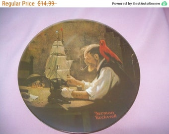 Collector plate, Knowles plate, 1980 Norman Rockwell Plate The Ship Builder Limited Edition