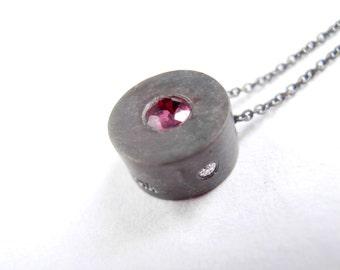 Junior Bauhaus  Ruby and Diamond Necklace