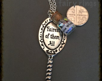 Fairest of them All mirror pendant necklace