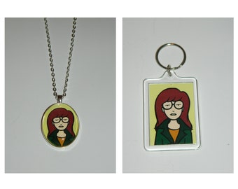 Daria Keychain or Glass Pendant Necklace
