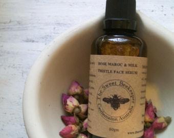 Rose Maroc and Organic Milk Thistle Face Serum.VEGAN.