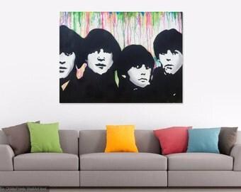 The beatles Pop art canvas