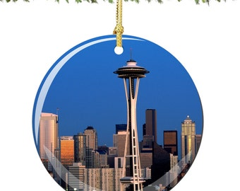 Seattle Porcelain Christmas Ornament Decoration