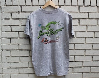 Vintage JIMMY BUFFETT Tour Shirt 1980's Last Mango In Paris Screen Stars tag made in usa live concert gear country western
