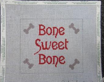 """Needlepoint Canvas """"Bone Sweet Bone"""" by Phideaux"""