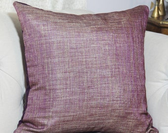 Purple Pillow Cover - Purple Gold Pillow Cover - Metallic Woven Purple Pillow Cover - Toss Pillow - Throw Pillow - Jewel Tone