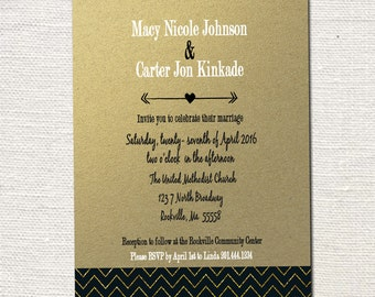 Custom Wedding Invitations- Print your own file or Printed Cards with envelopes