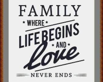 Family Cross Stitch Pattern