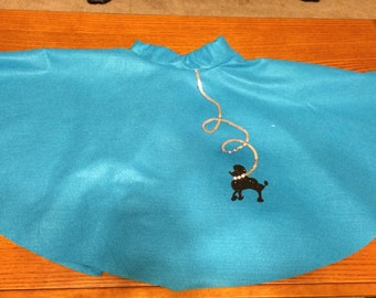 Teal poodle skirt