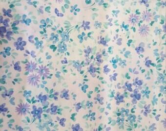Purple and Blue Mini Floral Print by Robert Kaufman