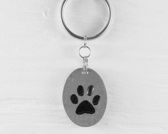 Paw keychains :. Aluminum - Animal - Cat - Dog - Footprint - Decoration - Accessory