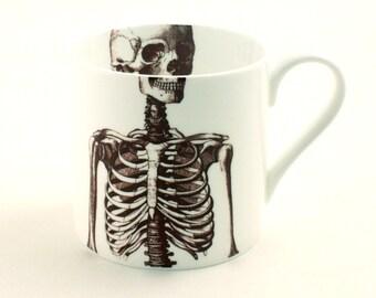 Skeleton Anatomical Mug Bone China Tea or Coffee  Anatomy Fun Funny Halloween Day of the Dead Mexico