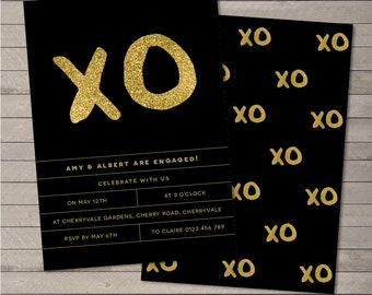 Printable Party Invitation PDF - XO