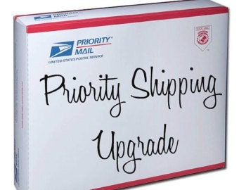 Priority Mail Upgrade (upgrades your shipping from 1st Class to Priority)