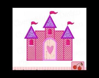 Valentines Day Love Princess Castle Custom Monogram Applique Shirt Girls Baby First Valentines Day Shirt