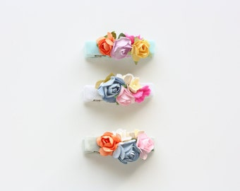 Velvet Bouquet Hairclips