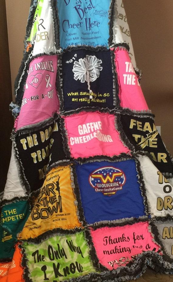 Ragged, T-shirt Blanket, Custom, Memorial blanket, Concert Blankets, T-Shirt Quilt,