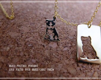 Puppy Necklace Set  - simple, minimal geometric jewelry, Mother necklace, Christmas gift, Valentine gift.