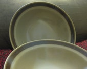 Granada Brown  Stoneware Cereal Soup bowls   Very Good Set of 2