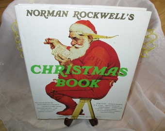 Rockwells Christmas book Carols Stories Recollections classic literature songs 1977 China Galore very good
