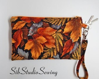 "Leaves Smartphone Clutch, 9 x 5.5 inches, Fits iPhone 6 Plus & 7 Plus, Smartphone and Tablets up to 7"" Length, Pockets, Large Phone Wristlet"
