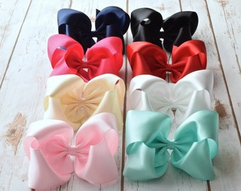 Satin Hair Bow, Girls Hair Bows, Large Hair Bows, 5 inch Bows, Hairbows, Baby Bows, Boutique Hair Bows, Alligator Clip, Barrette, Bows, 500