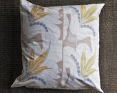 Retro Floor Pillow. Art Deco/ Gatsby Inspired Pillow Covers. 26x26 Floral Floor Pillows. Neutral Pillow Covers