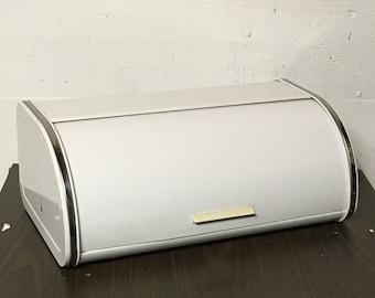 Bread Box, White Enamel Box, Vintage Brabantia, Retractable Lid, Roll Top Lid, 1980s Kitchen, Kitchen Decor, Retro Kitchen, Housewares