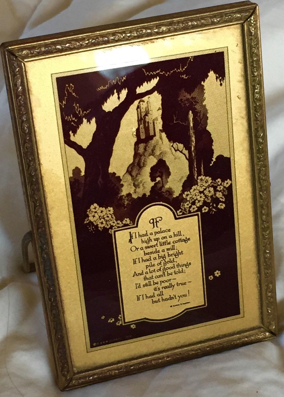 Emma Koehler Poem Antique Framed Poem Vintage Framed Emma E