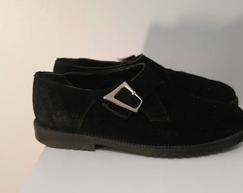 Vintage 80 Black suede Shoes