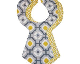 Modern Baby Necktie Bibs (Set of 2)