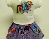 My Little Pony Rainbow Dash (Style B) Theme Outfit  For 18 Inch Doll Like The American Girl