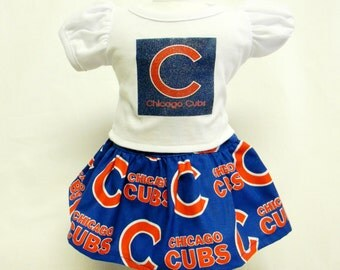 Chicago Cubs Outfit  For 18 Inch Doll Like The American Girl
