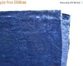 24H FLASH SALE Vintage plush or panne velvet for teddy bears navy blue cobalt blue dark blue midnight blue fat quarter