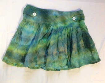 Funky Tie Dye Junior Skirt with pockets size Small W211