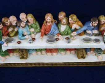 Lefton's Figurine, The Last Supper of Jesus and His Disciples, Religious Decor, Christian Decor, SRN00270