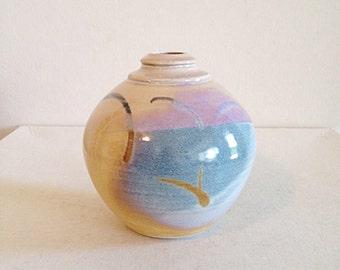 Gorgeous Desert Sunset Vintage Stusio Pottery Fat Vase