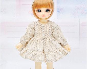 Creamy Polka dot dress