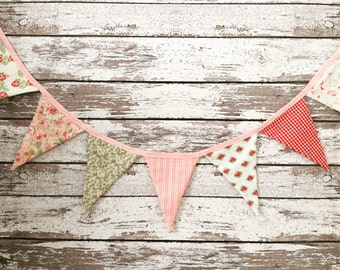 Fabric banner, shabby chic fabric banner, fabric bunting, fabric garland, photo prop banner, photo prop, banner, gatland, bunting