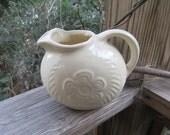 shawnee ivory flower and fern ice lip pitcher