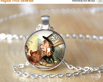 Mad Hatter Necklace - Literary Gift - Alice in Wonderland Necklace L30
