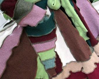 Recycled sweater coat - festival coat - hippie coat - gypsy clothing -  sweater coat - upcycled clothing
